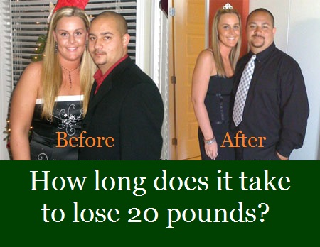 How long does it take to lose 20 pounds